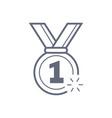 military reward medal line icon outline vector image