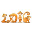 Monkey year 2016 vector image vector image
