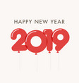 new-year-2019-red-balloons vector image vector image