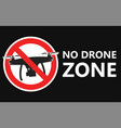 no drone zone sign no fly zone vector image