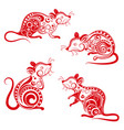 ornate rat set chinese new year 2020 year vector image vector image