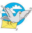 Pigeon carrier vector image vector image