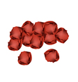 Pile of Umeboshi or Japanese Salt Plums vector image
