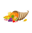 pumpkin veggie autumn set of food and meal vector image