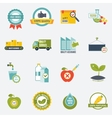 Quality control icons flat vector image vector image