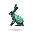 Rabbit abstract isolated vector image vector image