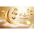 ramadan kareem or ramazan mubarak greeting card vector image vector image
