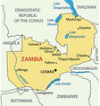 Republic of Zambia - map vector image vector image