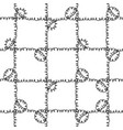 seamless nautical rope pattern black on white vector image vector image