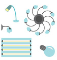 set of different lamps vector image