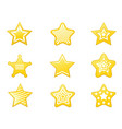 shiny star icons set vector image vector image