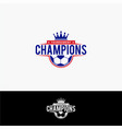soccer champion logo vector image vector image