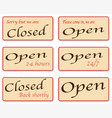 sorry we are closed vector image vector image