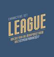 sport and techno display font design alphabet vector image