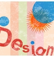 sun design vector image vector image