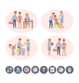 The process of giving birth vector image vector image