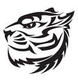 tiger head design vintage engraving vector image