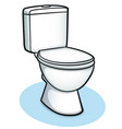 toilet color design concept vector image vector image