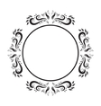 Vintage Ornate circle Frame frame