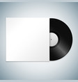vinyl record cover mockup vector image