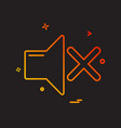 volume icon design vector image