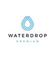 water drop logo icon vector image