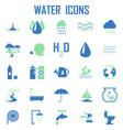 water icons mono symbol vector image vector image