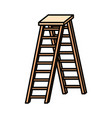 wooden stair isolated icon vector image vector image