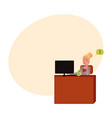 young businesswoman secretary sitting at office vector image