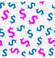 Money sign seamless pattern background vector image