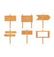 wooden arrows wooden signboard or sign isolated vector image