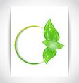 Round frame leaf elements vector image
