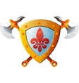 Shield With Axe vector image