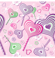 Sweet heart pattern old paper art vector image
