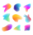 abstract colorful shapes set design concept vector image