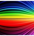 Abstract rainbow warped stripes colorful vector image vector image