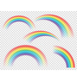 abstract realistic colorful rainbow on transparent vector image vector image