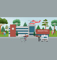 ambulance doctors paramedics emergency service vector image