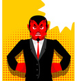 angry devil satan is not happy red demon vector image vector image