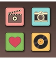 Apps icon set in textile styles vector