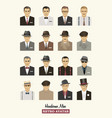 avatars fashion retro men vector image