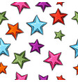 big cartoon pattern stars vector image