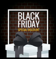 black friday special discount vector image