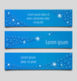 blue banner set with water drops vector image