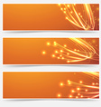Bright cable bandwidth speed swoosh header vector image vector image