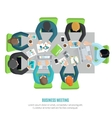 Business Meeting Flat vector image vector image