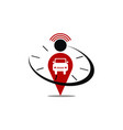 car location time alert vector image