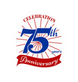 celebrating 75 th years vector image vector image