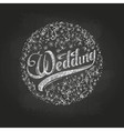 Chalk drawing Wedding vector image