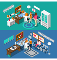 Child Diseases Isometric Banners vector image vector image